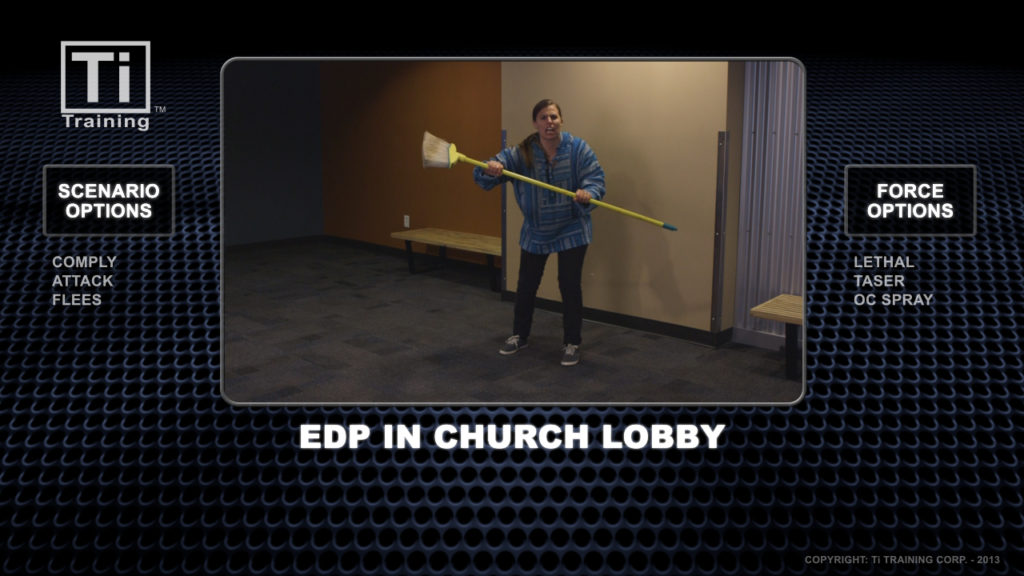 EDP in church lobby