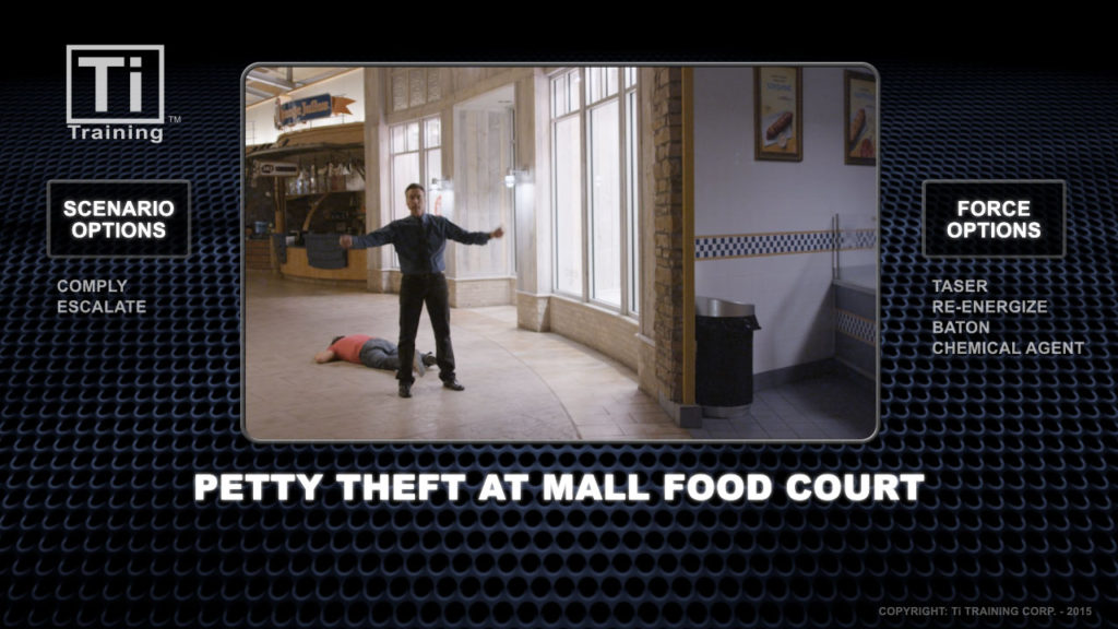 Petty theft mall food court