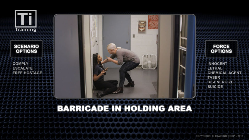 barricade in holding area