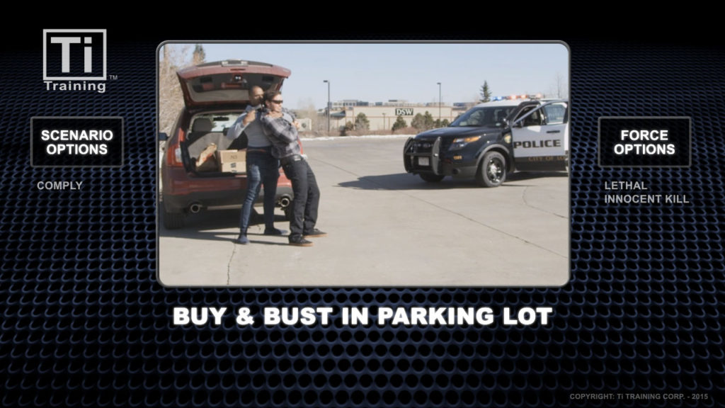 buy and bust in parking lot