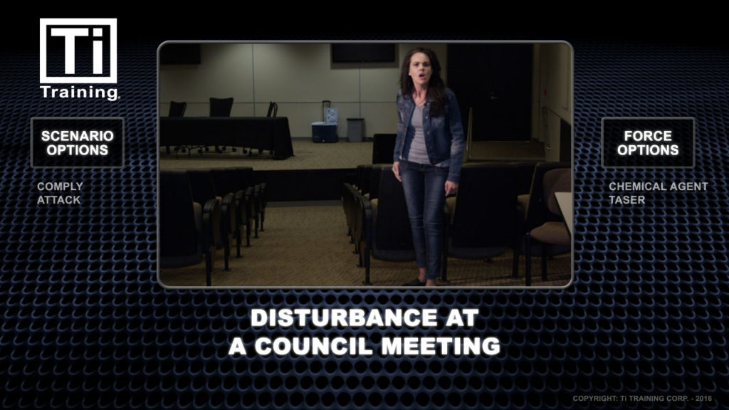 disturbance at council meeting