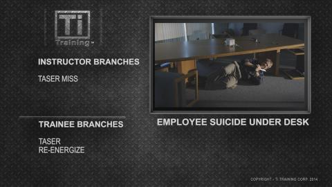 employee suicide under desk