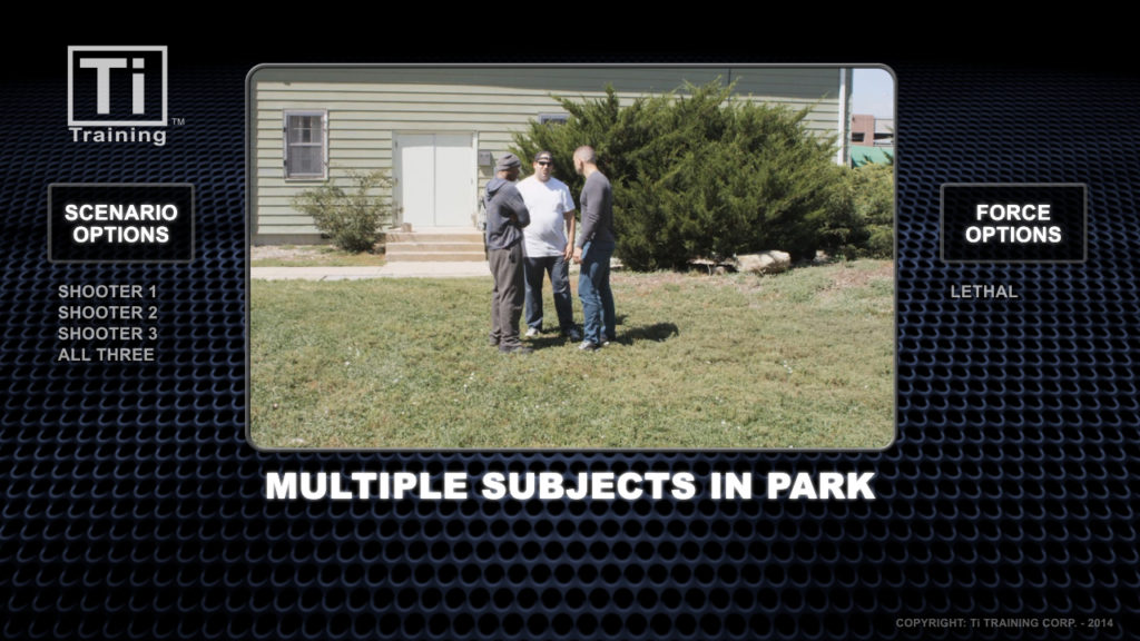 multiple subjects in park