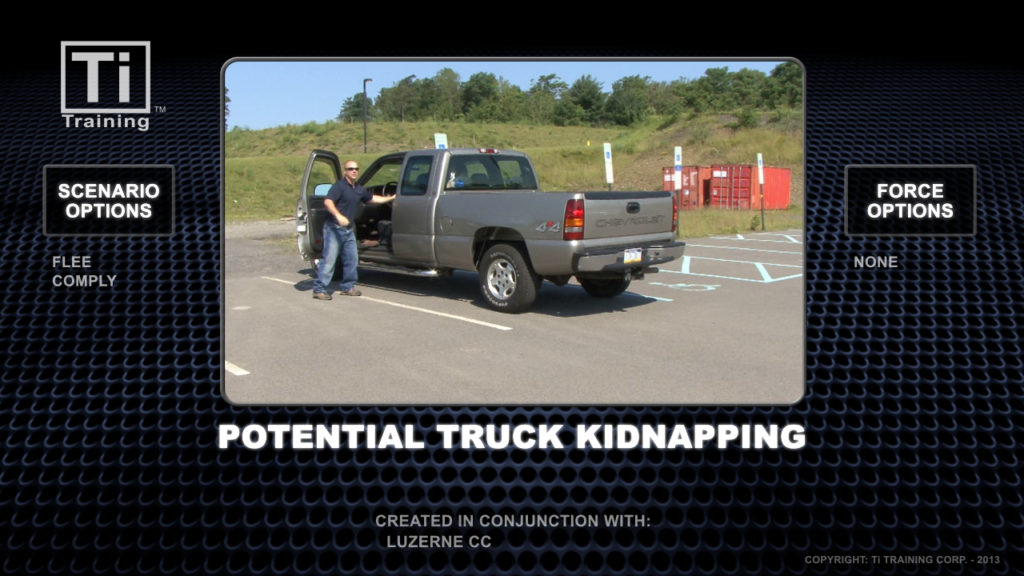 potential truck kidnapping