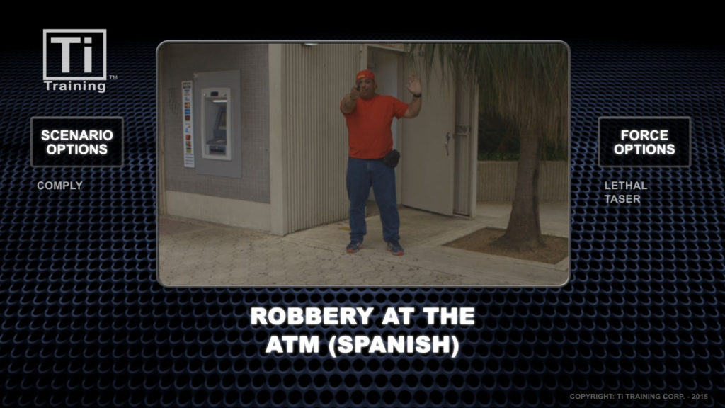 robbery at the atm spanish