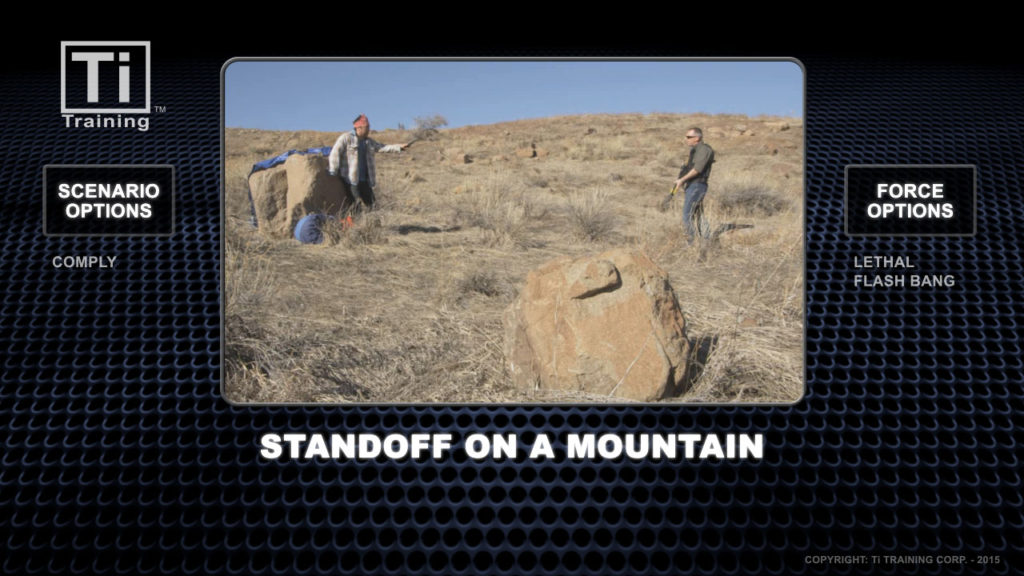 standoff on a mountain