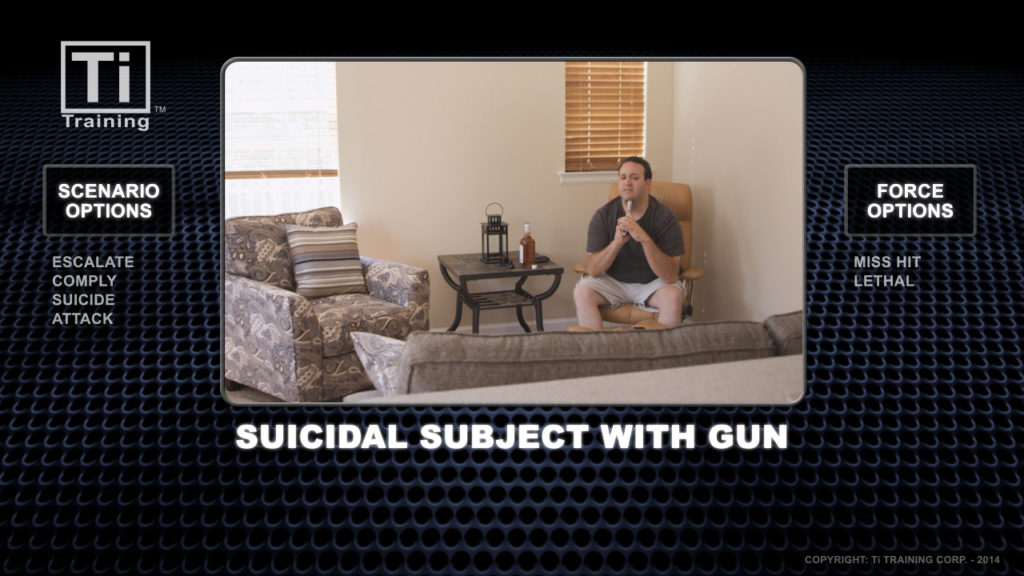 suicidal subject with gun