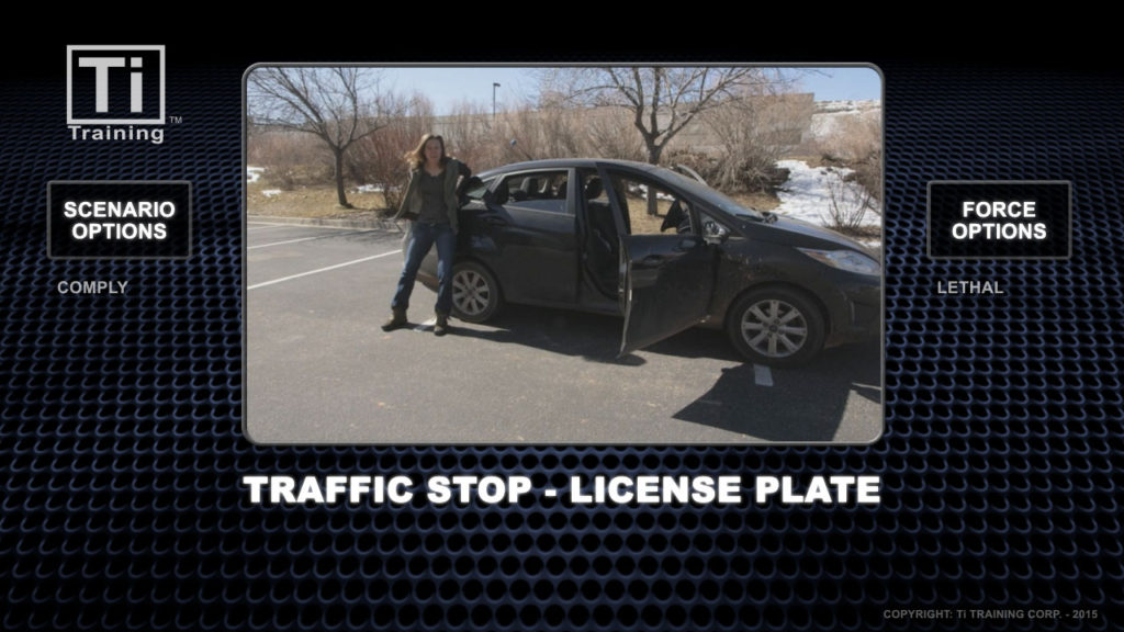 traffic stop license plate
