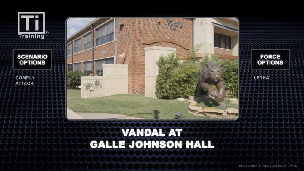 vandal at galle johnson hall